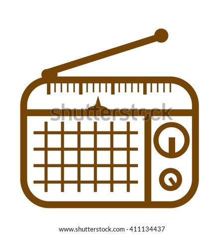 Doodle Transistor Radio  - stock vector
