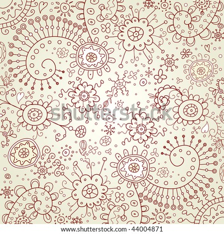 Doodles background. Vector illustration. - stock vector