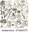 doodles - science - stock vector