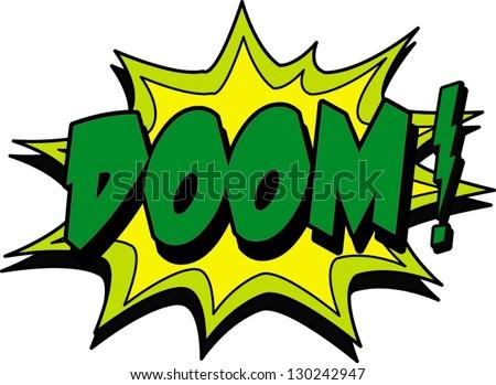 doom - stock vector