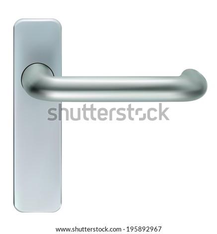Door closeup open. Vector EPS-10 - stock vector