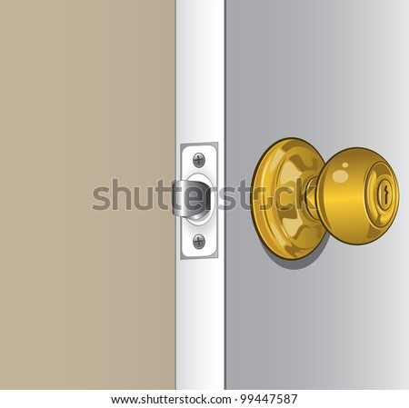 Door Knob - stock vector