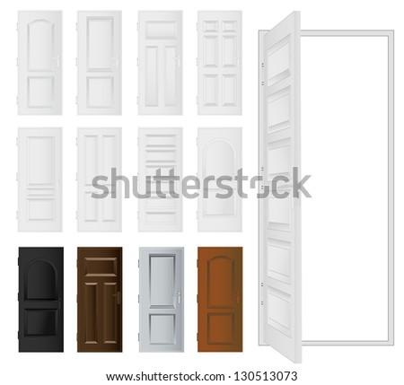 Door set - stock vector