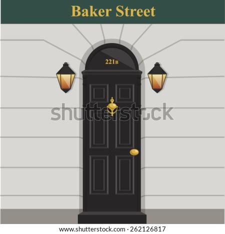 door Sherlock Holmes - stock vector