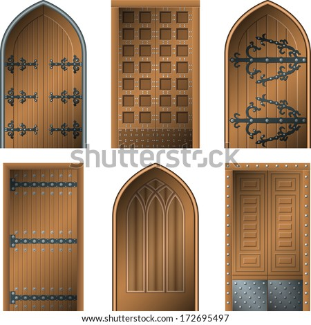 Door to the Middle Ages - stock vector