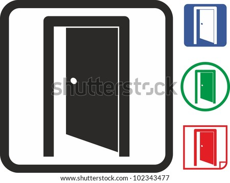 Door vector icon - stock vector