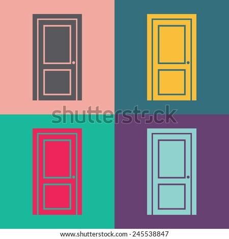 Open Door Icon Vector Door Vector Icon