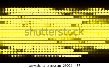 Dot background. Vector Illustration. dark yellow lights Abstract Background. screen - stock vector