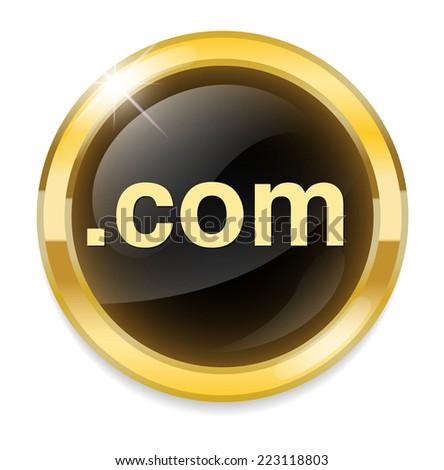 dot com  button - stock vector