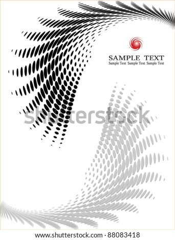 Dot Pattern Halftone Background design - stock vector