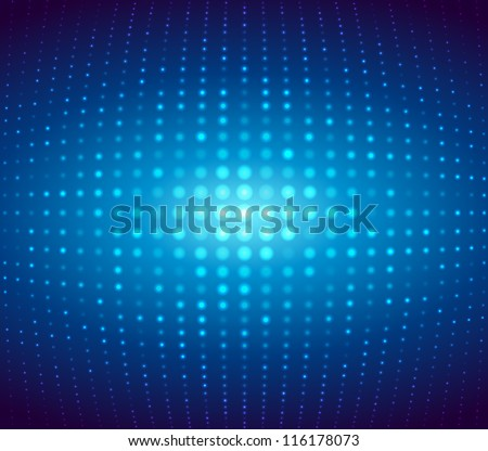 Dotted background. Vector Illustration. - stock vector