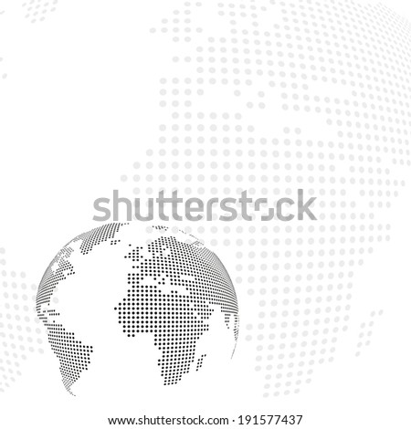Dotted Earth background - stock vector