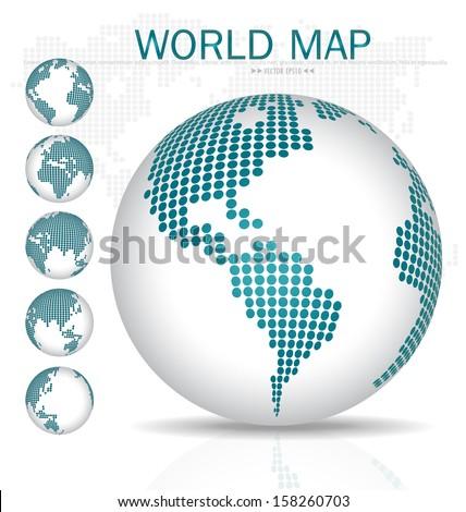 Dotted Globe. Vector illustration. - stock vector