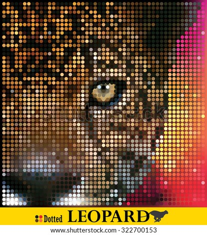Dotted leopard - stock vector