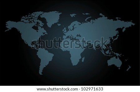 Dotted map. - stock vector