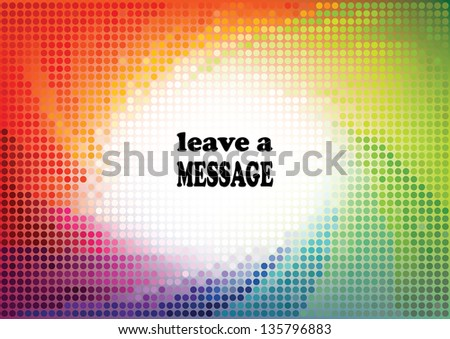 Dotted rainbow background 1.. - stock vector