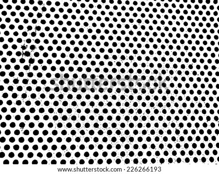 Dotted Texture . Grunge Black and White Distress Texture . Scratch Texture . Dirty Texture . Wall Background .Vector Illustration. - stock vector