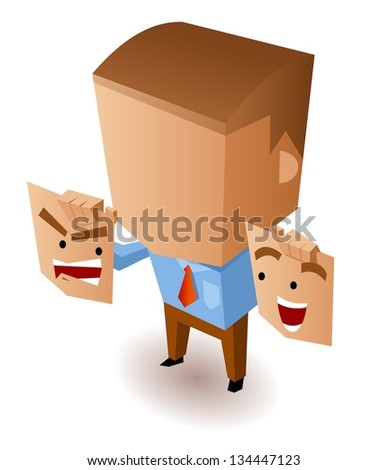 Double agent. Vector Illustration - stock vector