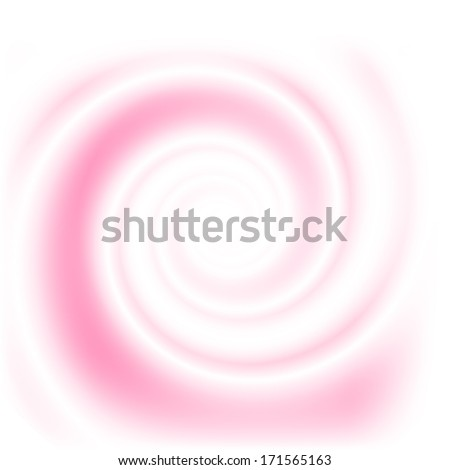 Double colored twirl - white and pink. Abstract vector background. - stock vector