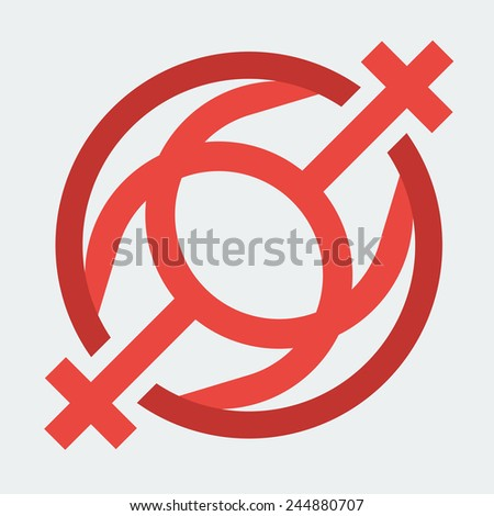 Double Female Sign, Used as a Female Homosexual Symbol. Vector Illustration - stock vector