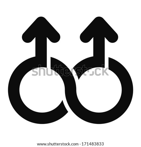 Double male Limitless symbol, vector - stock vector
