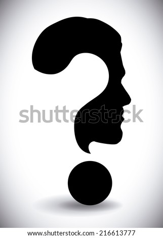doubt design over gray background vector illustration - stock vector