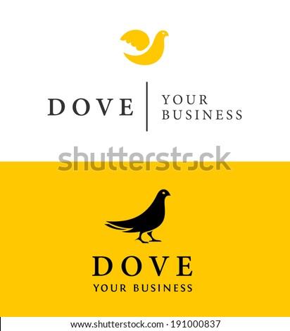 Dove Emblem Vector - stock vector