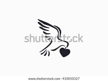 dove, web icon. vector design - stock vector