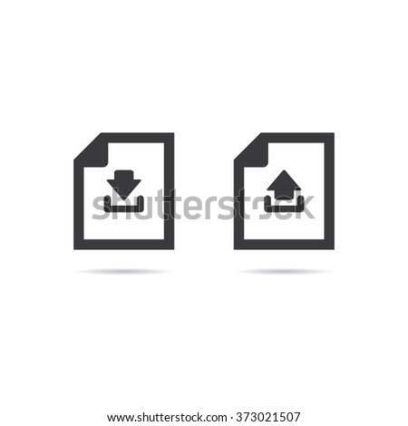 Download and Upload Document Icons - stock vector