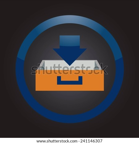Download flat icon - stock vector