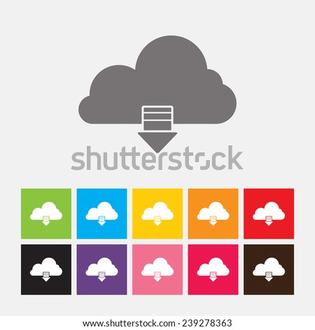 Download from cloud icon, Load symbol - Vector - stock vector
