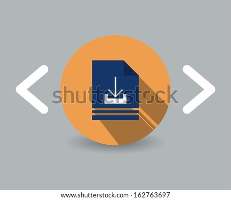 download icon - stock vector