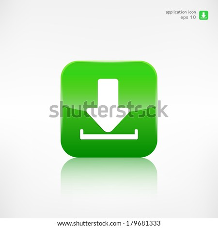 Download icon. - stock vector