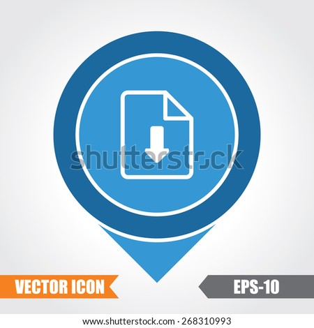 Download Icon On Map Pointer. Eps.-10. - stock vector