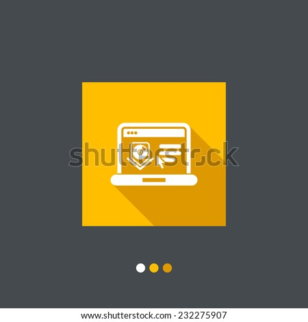 Download or upload page icon - stock vector