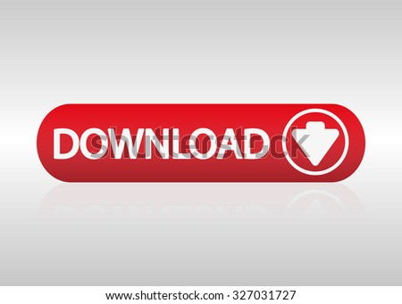 Download red button. Vector illustration - stock vector