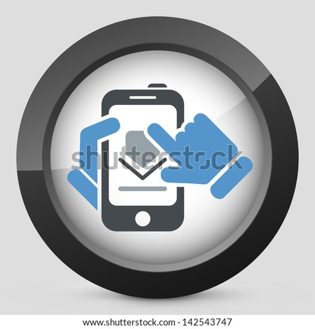 Download smartphone icon - stock vector