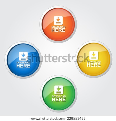 Download Vector Colorful Web Icon - stock vector