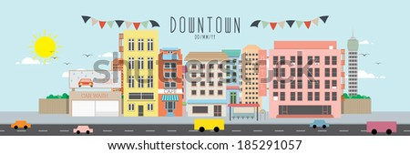 Downtown - stock vector
