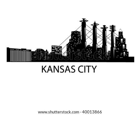 Downtown Kansas City Skyline - stock vector