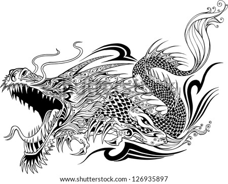 Dragon Tattoo Stock Photos Images amp Pictures Shutterstock