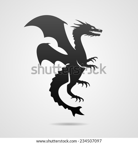 Dragon. Eps10 - stock vector