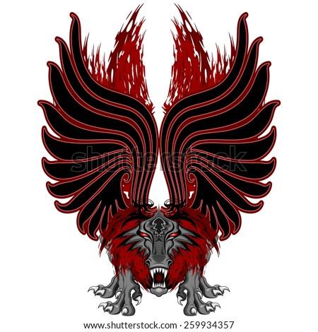 Dragon Gargoyle Tattoo Style - stock vector