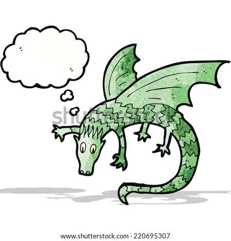 dragon illustration - stock vector