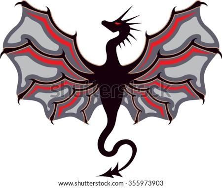 Dragon Logo - stock vector