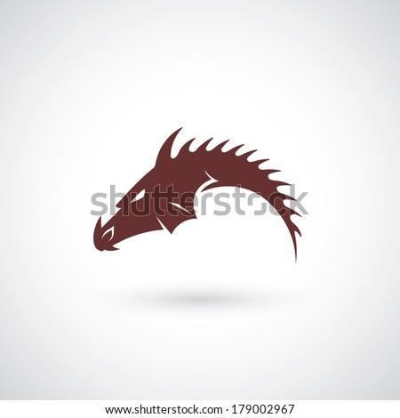 Dragon symbol - vector illustration - stock vector