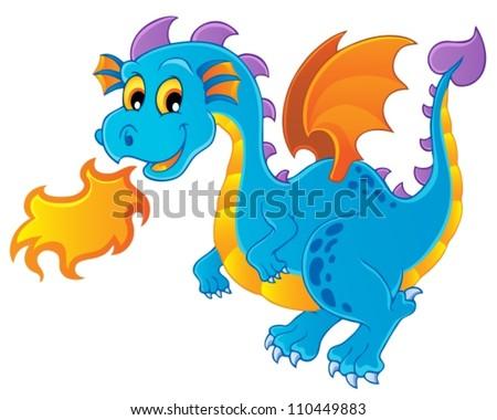 Dragon theme image 4 - vector illustration. - stock vector