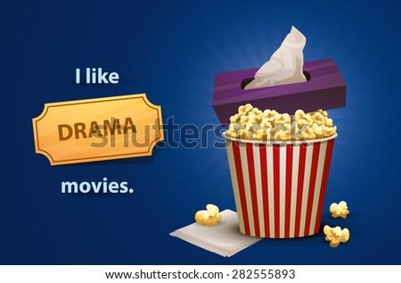 Drama movies, vector - stock vector