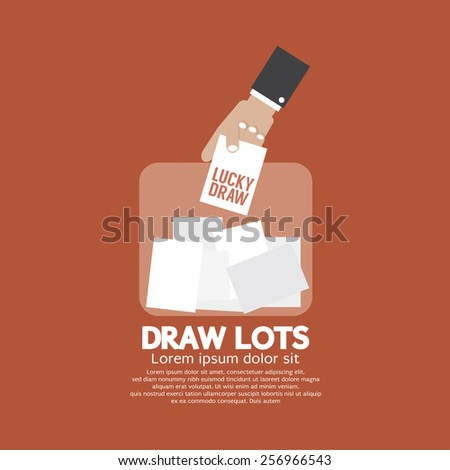 Draw Lots, Risk Taking Concept Vector Illustration - stock vector