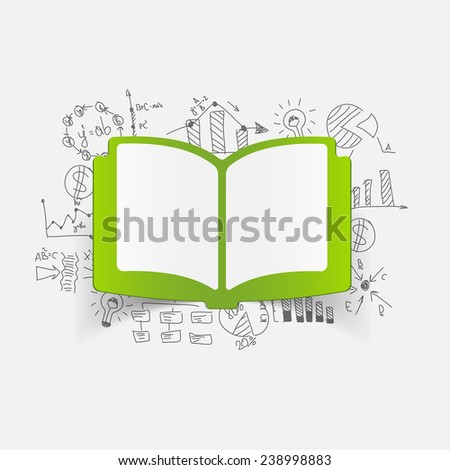 Drawing business formulas: book - stock vector